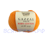 Пряжа GAZZAL Baby Cotton - Газзал Беби Коттон